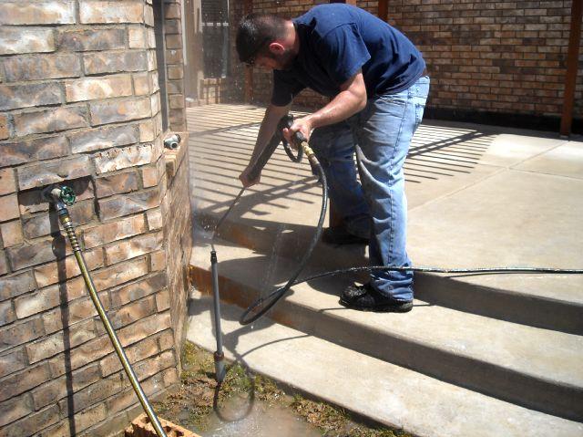 Как сделать кислотный краситель для бетона