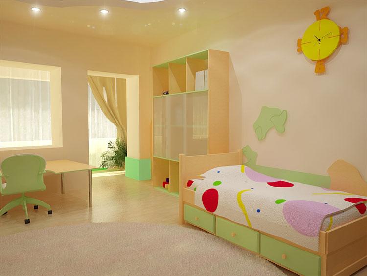 Покраска детской комнаты фото
